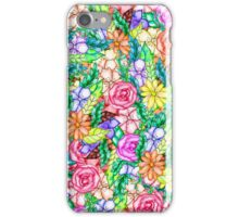 Modern pastel spring floral watercolor hand paint iPhone Case/Skin