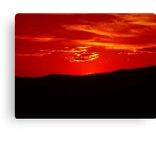 Scarlet Sunset Over Malin 1 Canvas Print