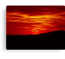 Scarlet Sunset Over Malin 2 Canvas Print