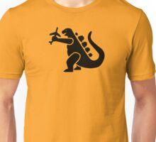 Godzilla take a plane Unisex T-Shirt