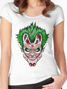 Evil clown Women's Fitted Scoop T-Shirt