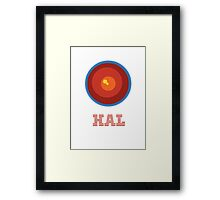 HAL 9000 Design Framed Print