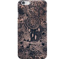 Modern rose gold blue dreamcatcher floral pattern  iPhone Case/Skin