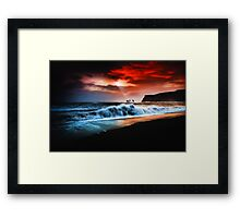 Vik Textured Framed Print