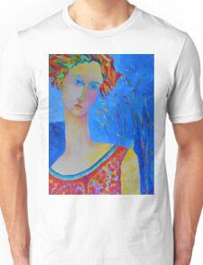 Female portraiture unique oil painting Unisex T-Shirt