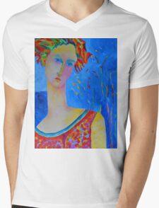 Female portraiture unique oil painting Mens V-Neck T-Shirt