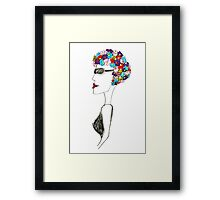 Happiness = 1930s swimming cap Framed Print