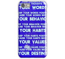 Motivational Quotes - Keep your words positive - Ghandi-2 iPhone Case/Skin