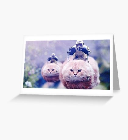 Star Wars speeder Bikes Greeting Card