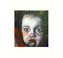wide eyed boy Art Print