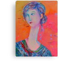 Decorative female portrait Canvas Print