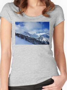 Mountain peak Women's Fitted Scoop T-Shirt