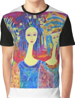 Best selling decorative woman painting Large Sized Graphic T-Shirt