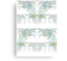 Nocturnal Animal Blue and White Feather Canvas Print