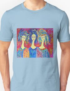 Best selling decorative woman painting Large Sized Unisex T-Shirt