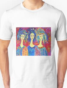 Best selling decorative woman painting Large Sized T-Shirt