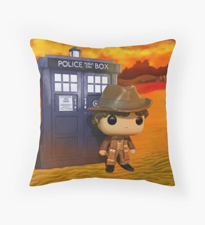 4th Doctor On Gallifrey Throw Pillow