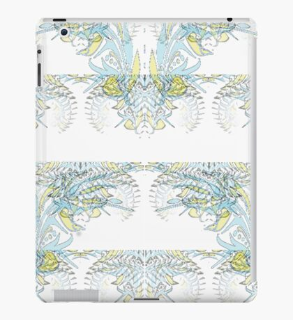 Nocturnal Animal Blue and White Feather iPad Case/Skin