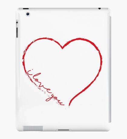 I love you V.1.4. iPad Case/Skin