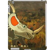 A Jolly Cerotopsian Dinosaur from the Cretaceous Period iPad Case/Skin