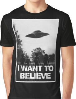 X Files I Want to Believe Graphic T-Shirt