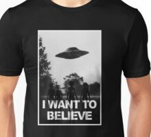X Files I Want to Believe Unisex T-Shirt