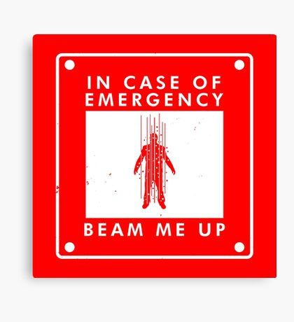 In case of emergency  Canvas Print