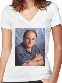 George Costanza Bae Women's Fitted V-Neck T-Shirt