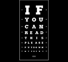 If you can read this please, put down my phone. by underthecreek
