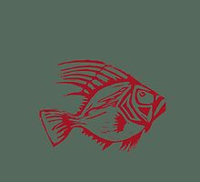 A fish symbol for a safe planet by robinia