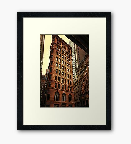city architecture Framed Print
