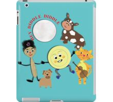Hey Diddle Diddle Kids Nursery Rhyme Picture iPad Case/Skin