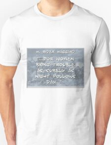 For Women Bring Trouble - Haggard Unisex T-Shirt