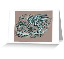 Flying bicycle Greeting Card