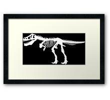 Tyrannosaurus Rex Dinosaur Skeleton Framed Print