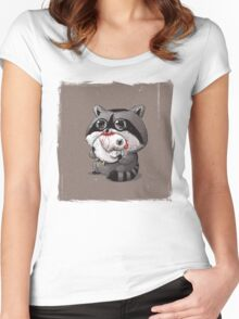 Wild Life #4 Women's Fitted Scoop T-Shirt