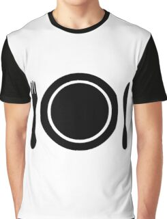 Knife, fork and plate. Graphic T-Shirt