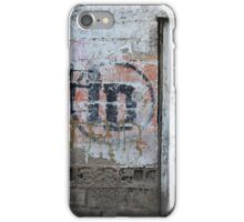 Old White Door in a Wall iPhone Case/Skin