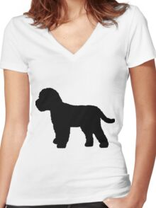 Cockapoo Dog Women's Fitted V-Neck T-Shirt