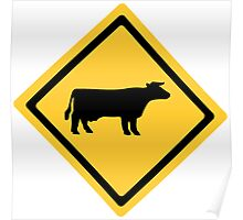 Cattle Sign Poster