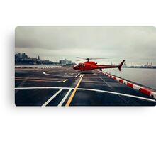 Red Helicopter Canvas Print