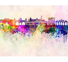 Pune skyline in watercolor background Photographic Print