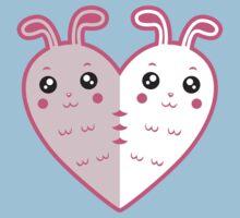 Cute rabbit-heart One Piece - Short Sleeve