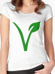 Vegetarian Symbol Women's Fitted Scoop T-Shirt