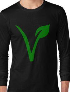 Vegetarian Symbol Long Sleeve T-Shirt