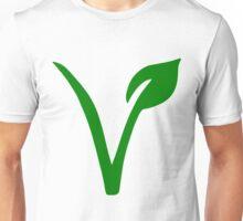 Vegetarian Symbol Unisex T-Shirt