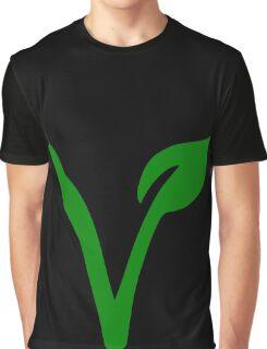Vegetarian Symbol Graphic T-Shirt