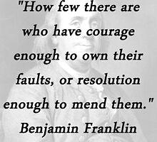 Franklin - Courage Enough by CrankyOldDude