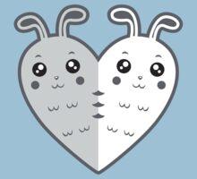 Cute rabbit-heart Kids Tee