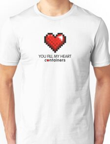 Video Game Geek Pixel Heart | You Fill My Heart Containers  T-Shirt